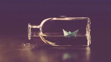 漂流瓶唯美意境