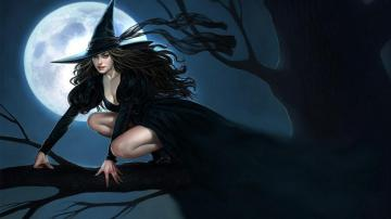 动漫性感妖娆迷人女巫高清壁纸图片-好运图库