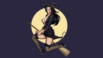 动漫性感妖娆迷人女巫