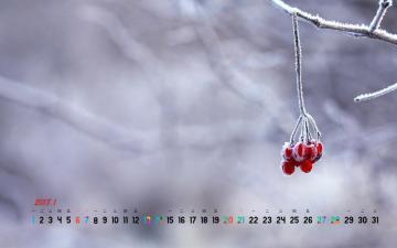 2018年1月雪景日历,农历,月历壁纸-好运图库