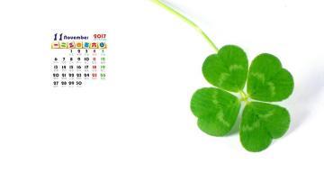 2017年11月小清新日历,农历,月历壁纸-好运图库