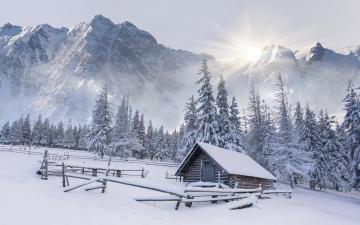 冬季的积雪,高清壁纸,风景图片-好运图库