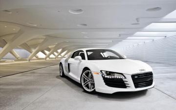 奥迪白色R8跑车-高清图片-好运图库