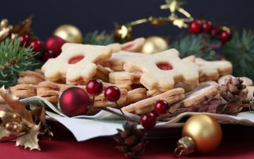 圣诞饼干高清壁纸图片-圣诞节-好运图库