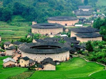 世界文化遗产福建土楼高清图片-好运图库