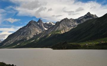 骑行在滇藏线之山水风景高清壁纸-好运图库