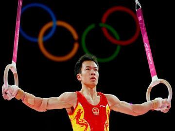 中国队伦敦奥运冠军之体操男团高清图片-好运图库