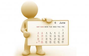 2012年6月月历壁纸,农历,月历壁纸-好运图库