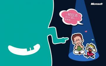 微软官方愚人节壁纸高清图片-节日矢量-好运图库