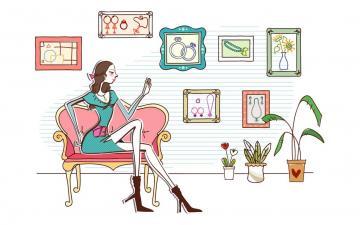 时尚购物女性矢量【二】,高清壁纸图片,美女矢量-好运图库