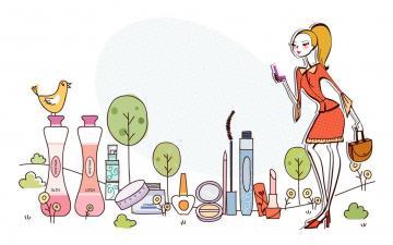 时尚购物女性矢量【一】,高清壁纸图片,美女矢量-好运图库