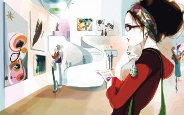 时尚女性矢量【一】,高清壁纸图片,美女矢量-好运图库
