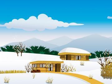 冬天风光矢量,高清壁纸图片,风景矢量-好运图库