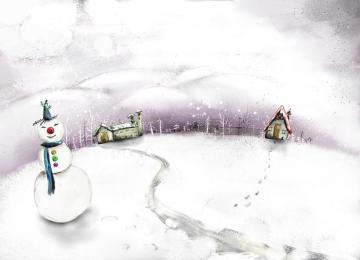 冬季卡通矢量背景图片,高清壁纸图片,风景矢量-好运图库