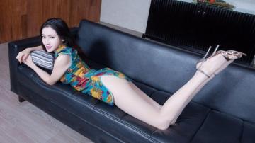 中国风韵的旗袍女人