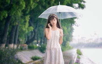 雨天里的回忆,高清壁纸图片,大陆美女-好运图库