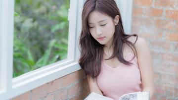 粉嫩甜美美女清新写真,高清壁纸图片,大陆美女-好运图库