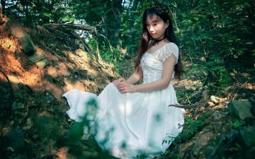 气质温柔的森系女生-高清壁纸图片-清纯美女-好运图库