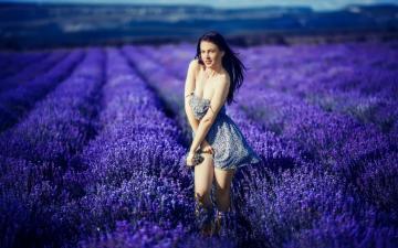 薰衣草,流淌着一缕爱的时光,高清壁纸图片,欧美美女-好运图库