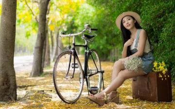 单车女孩的最美时光,高清壁纸图片,清纯美女-好运图库