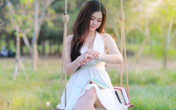 清纯的亚洲唯美女孩高清壁纸图片-好运图库