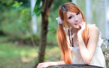 清纯的亚洲唯美女孩