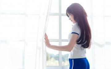 长发气质美女居家养眼写真,高清壁纸图片,大陆美女-好运图库
