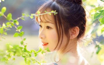 日系少女吊带裙户外小清新写真,高清壁纸图片,大陆美女-好运图库
