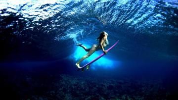 冲浪者女孩,高清壁纸图片,欧美美女-好运图库