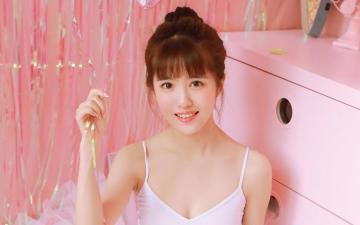 粉红少女可爱,高清壁纸图片,可爱美女-好运图库