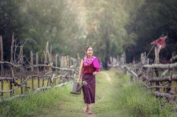 越南美女田园写真