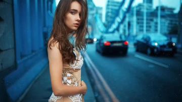 欧美美女时尚街拍-欧美美女-好运图库