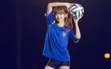 2014世界杯足球宝贝,高清壁纸图片,大陆美女-好运图库