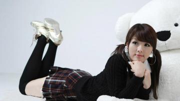 黄美姬制服的诱惑,高清壁纸图片,日韩美女-好运图库