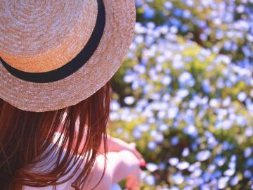 夏日小清新美女,高清壁纸图片,大陆美女-好运图库