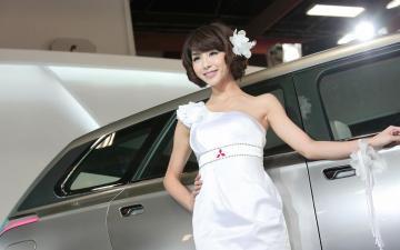 小清新美女车模,高清壁纸图片,清纯美女-好运图库
