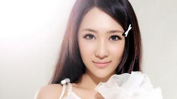 田子琳之可爱白衣天使,高清壁纸图片,大陆美女-好运图库