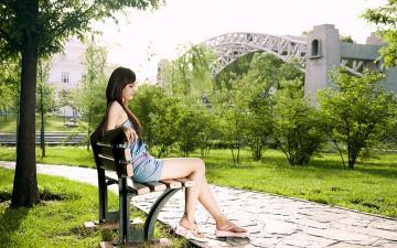 青春阳光魅力美女,高清壁纸图片,清纯美女-好运图库