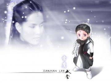 香港女星李若彤,高清壁纸图片,港台美女-好运图库