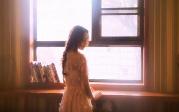 高冷文艺美女居家写真,高清壁纸图片,大陆美女-好运图库