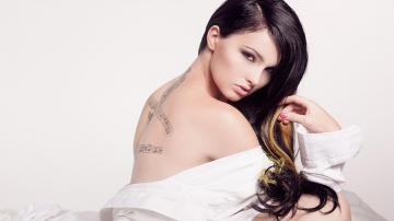 纹身性感美女,高清图片,艺术壁纸-好运图库