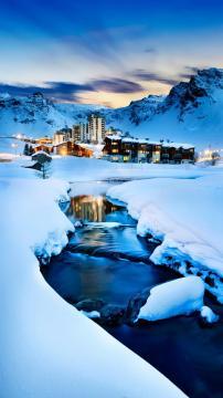 法国的蒂涅小镇-锁屏图片-高清手机壁纸-风景-好运图库