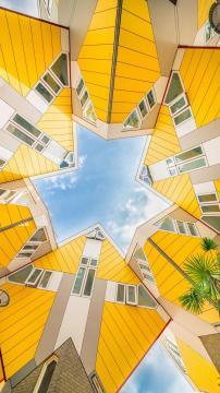 鹿特丹的立体方块屋,锁屏图片,高清手机壁纸,另类-好运图库