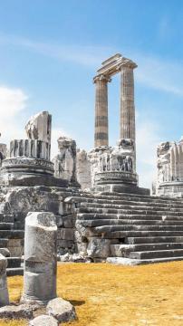 希腊的阿波罗神庙遗址-高清手机壁纸,另类-好运图库