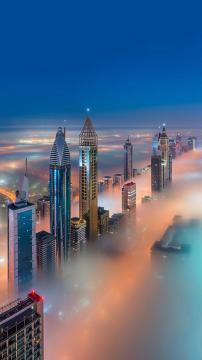 上帝视角看迪拜,锁屏图片,高清手机壁纸,另类-好运图库