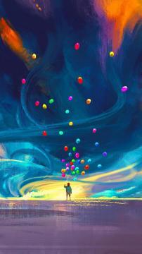 梦想的气球高清手机壁纸-好运图库