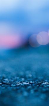 蓝色夜晚的街道-锁屏图片-高清手机壁纸-风景-好运图库