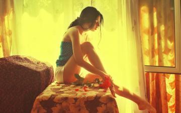 朦胧性感美女,高清壁纸图片,美女矢量-好运图库