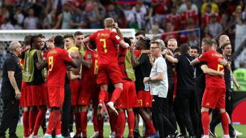 比利时庆祝击败巴西,高清壁纸图片,足球-好运图库
