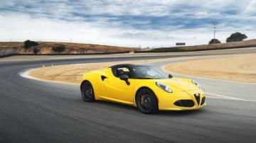阿尔法罗密欧黄色跑车,高清图片,汽车壁纸-好运图库